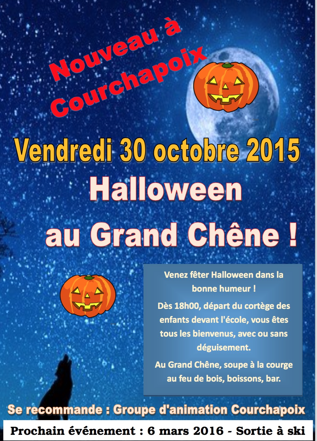 30 octobre 2015 halloween au grand ch ne. Black Bedroom Furniture Sets. Home Design Ideas