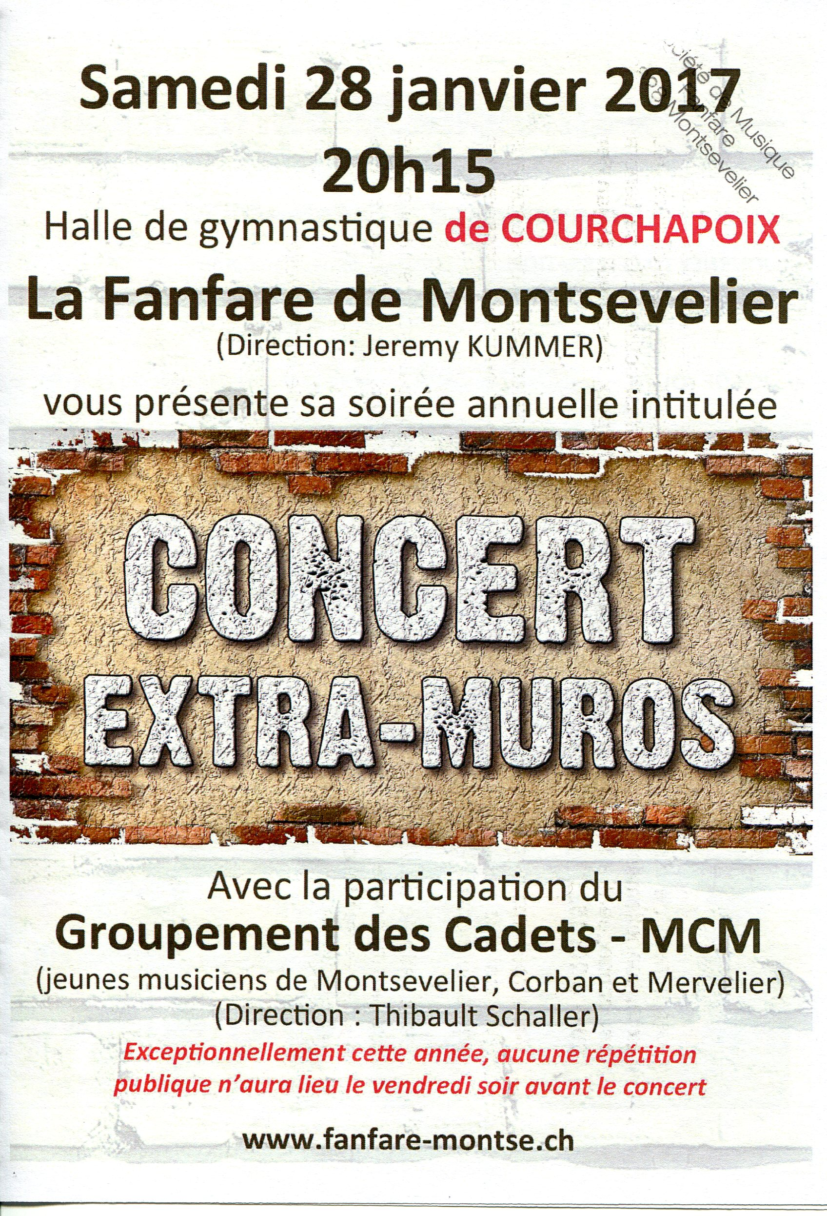 28 janvier 2017 concert de la fanfare de montsevelier. Black Bedroom Furniture Sets. Home Design Ideas