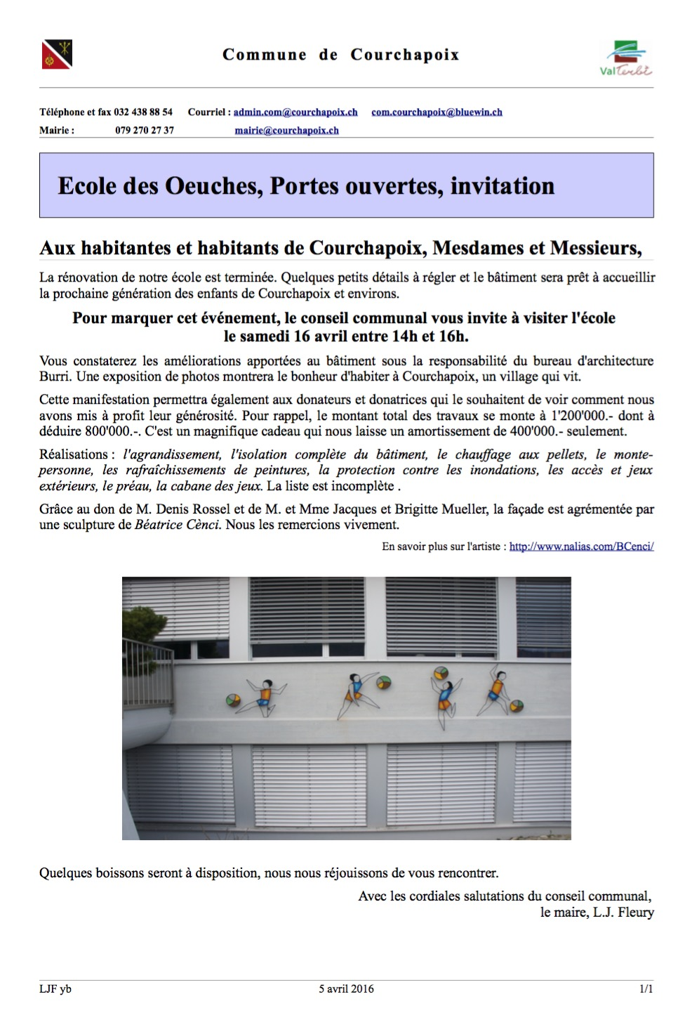 ecole des oeuches portes ouvertes samedi 16 avril de 14h. Black Bedroom Furniture Sets. Home Design Ideas
